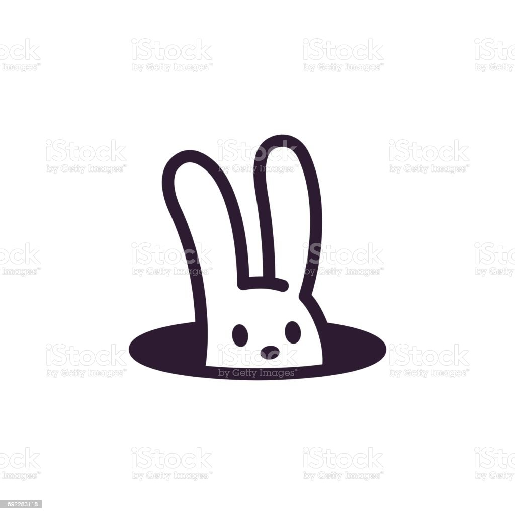Rabbit in hole royalty-free rabbit in hole stock illustration - download image now