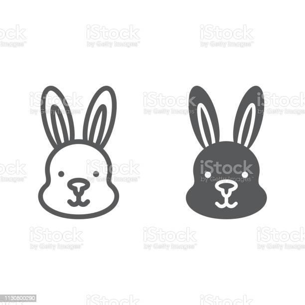 Rabbit line and glyph icon hare and animal bunny sign vector graphics vector id1130800290?b=1&k=6&m=1130800290&s=612x612&h=owwm j4hdx0ljef45 krbpw2iidwfc ky1ju5idejp0=
