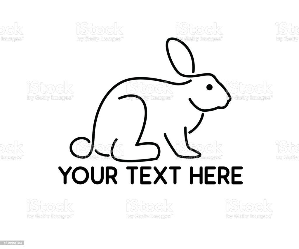 ilustração de coelho linha design de estilo de linha simples
