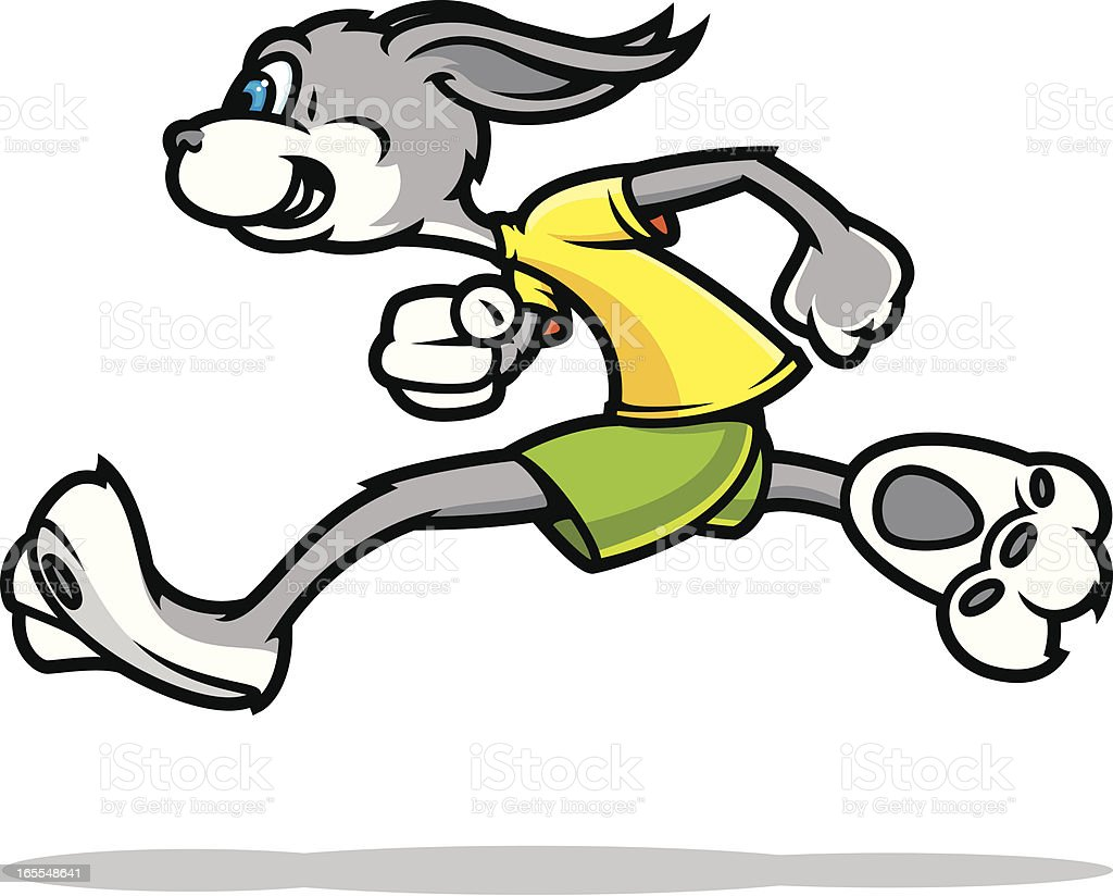 Rabbit Race royalty-free rabbit race stock vector art & more images of activity