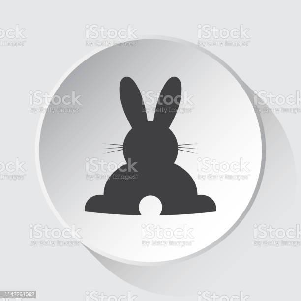 Rabbit rear view simple gray icon white button vector id1142261062?b=1&k=6&m=1142261062&s=612x612&h=bea8podidxvuadktusbr4vnbwtz2lyglmh8r9bqzjr0=