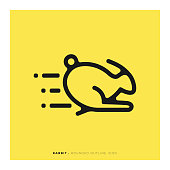 Rabbit Rounded Line Icon