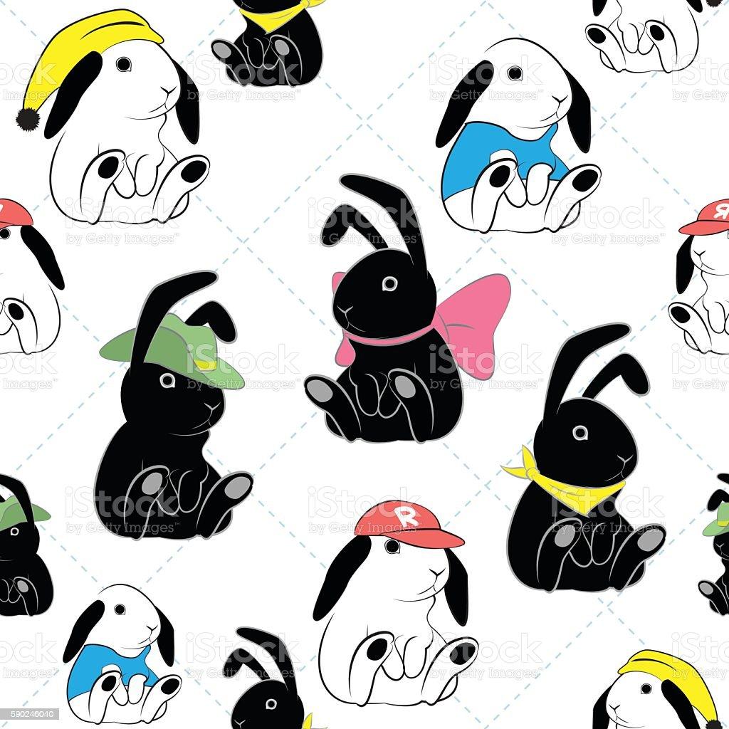 Ilustración de Patrón Sin Costuras De Conejo y más banco de imágenes ...
