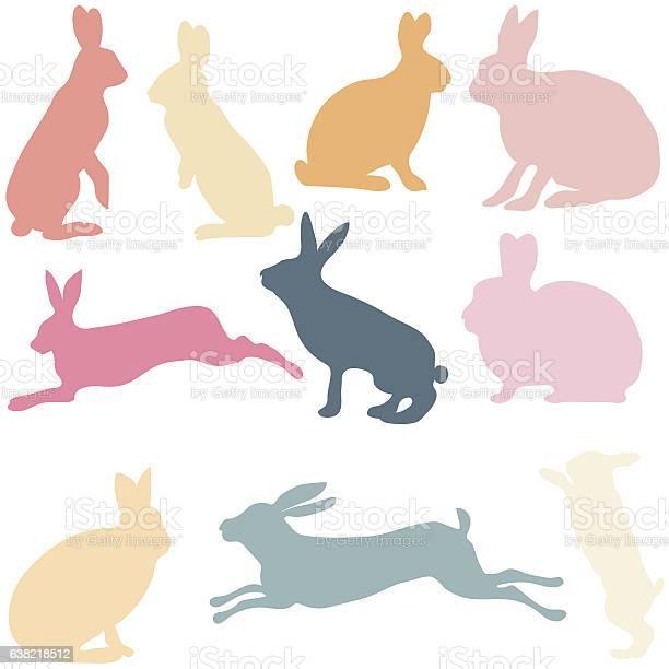Rabbit silhouettes on the white background vector illustration vector id638218512?b=1&k=6&m=638218512&s=612x612&h=0rdhts4fmnmtublgoiava lflsim8sg6jxcwllkcnwc=