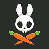Rabbit skull with carrots