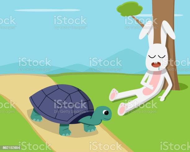 Rabbit sleep under tree while tortoise run on road vector id862152654?b=1&k=6&m=862152654&s=612x612&h=8janm  tvr02nslchcznfglg1ogdaaflfzyz y1xyom=