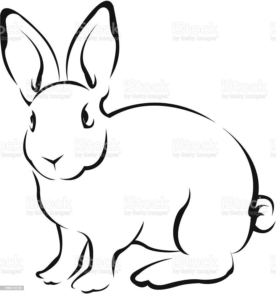 rabbit vector art illustration