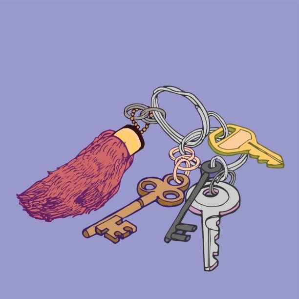 Rabbit's Foot Keychain vector art illustration