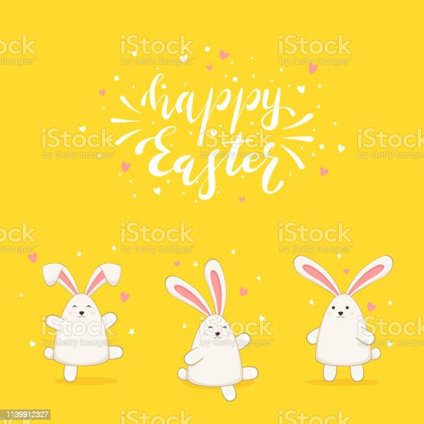 Rabbits on yellow background and lettering happy easter vector id1139912327?b=1&k=6&m=1139912327&s=612x612&h=0hyc1hpg1obutpsncnjjcgyv1c6kyuwkqbunlchdfqg=