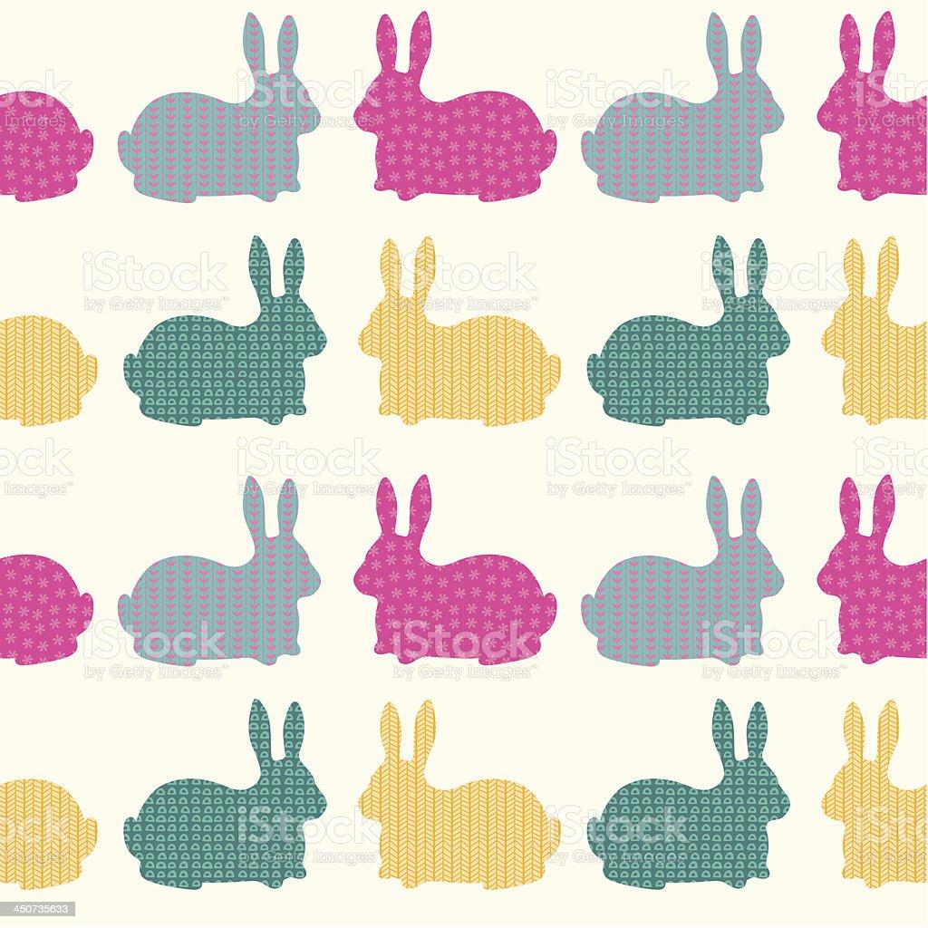 Patrón Sin Costuras De Los Conejos - Arte vectorial de stock y más ...
