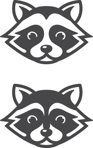 Top 60 Raccoon Clip Art, Vector Graphics and Illustrations ... Raccoon Face Clip Art Black And White