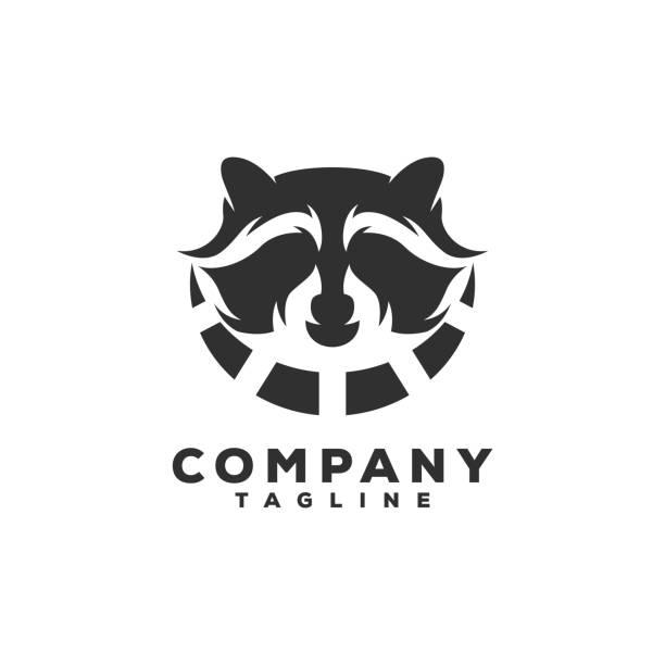 raccoon logo design raccoon logo design raccoon stock illustrations