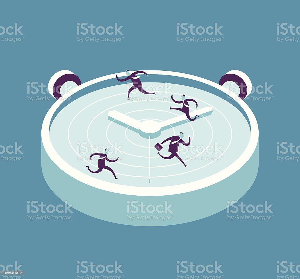 Race Against Time vector art illustration