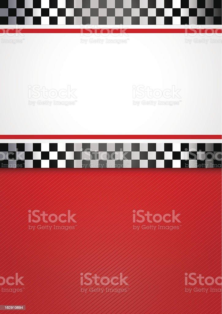 Race blank background vector art illustration
