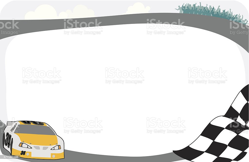 Race Car Frame C Stock Vector Art & More Images of Auto Racing ...