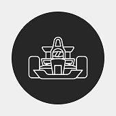 race car line icon