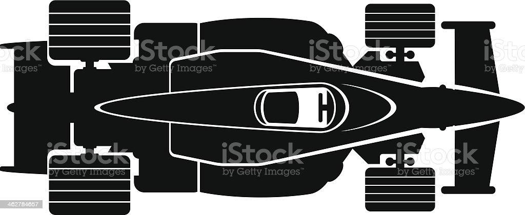 race car vector art illustration