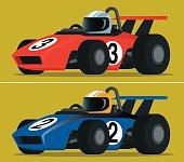 Two race car