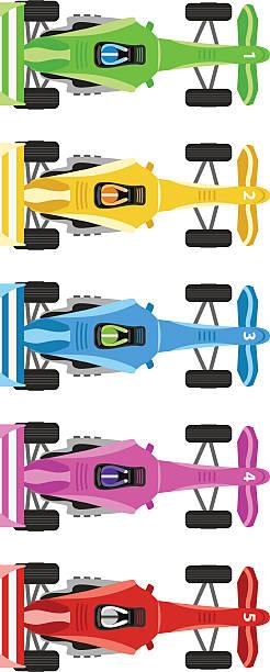 гонки автомобилей - formula 1 stock illustrations
