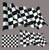 Race Checkered Finish Waving Flag