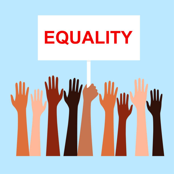 Race equality, tolerance. people's hands with different skin color together. Race equality, tolerance. Vector illustration of a people's hands with different skin color together. Stop racism, equality banner equality stock illustrations