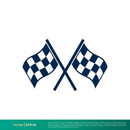 Race Flag Icon Vector Logo Template Illustration Design. Vector EPS 10.
