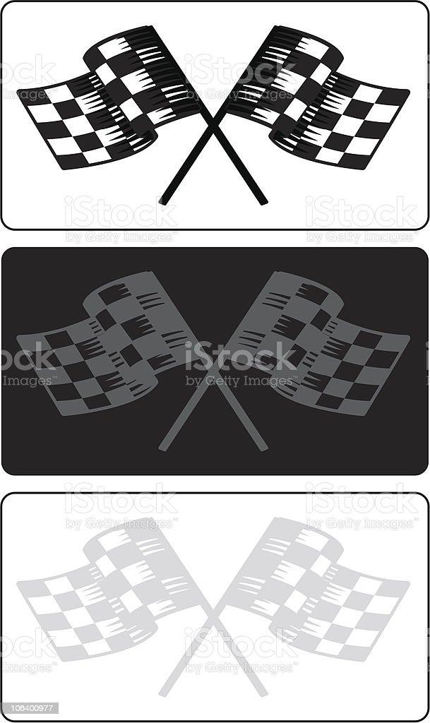 race flag variations vector art illustration