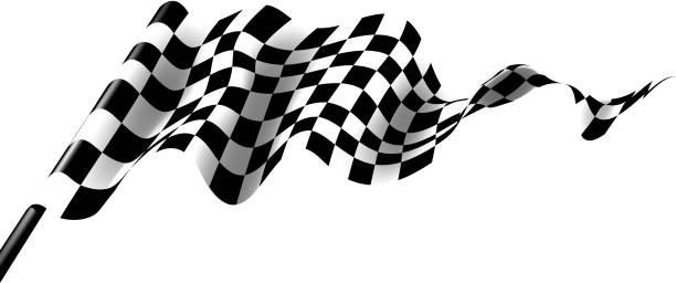race flag race flag waving on wind qualification round stock illustrations