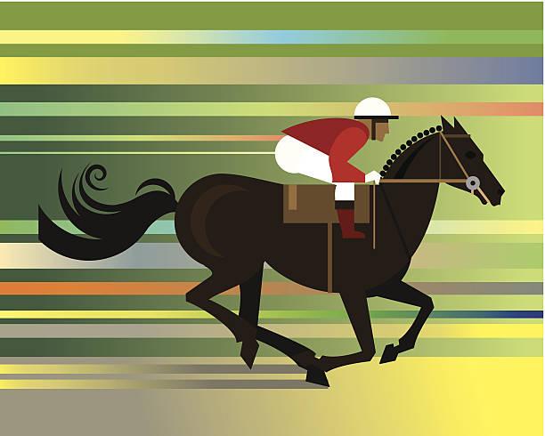 race horse jockey c - horse racing stock illustrations
