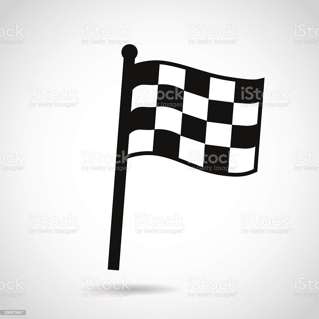 Race icon isolated on white background. vector art illustration