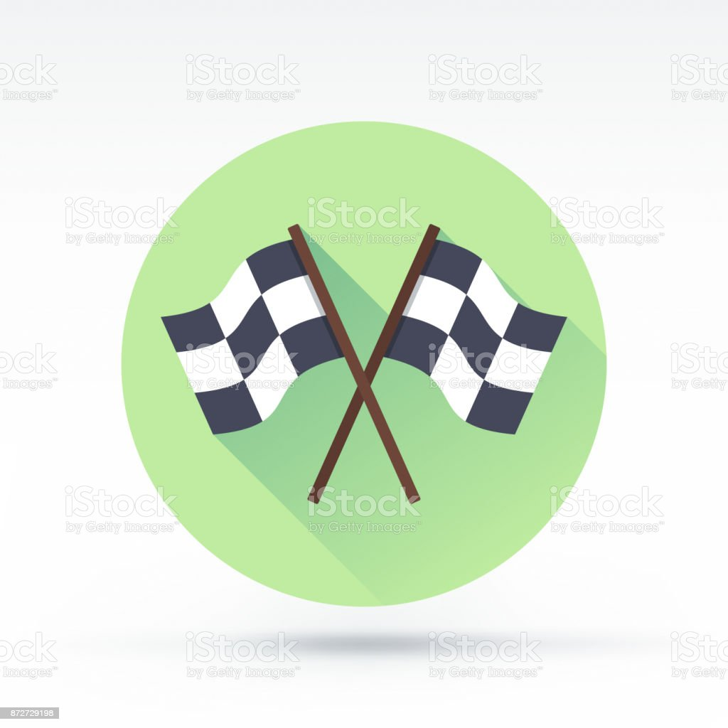 Race Icon vector art illustration