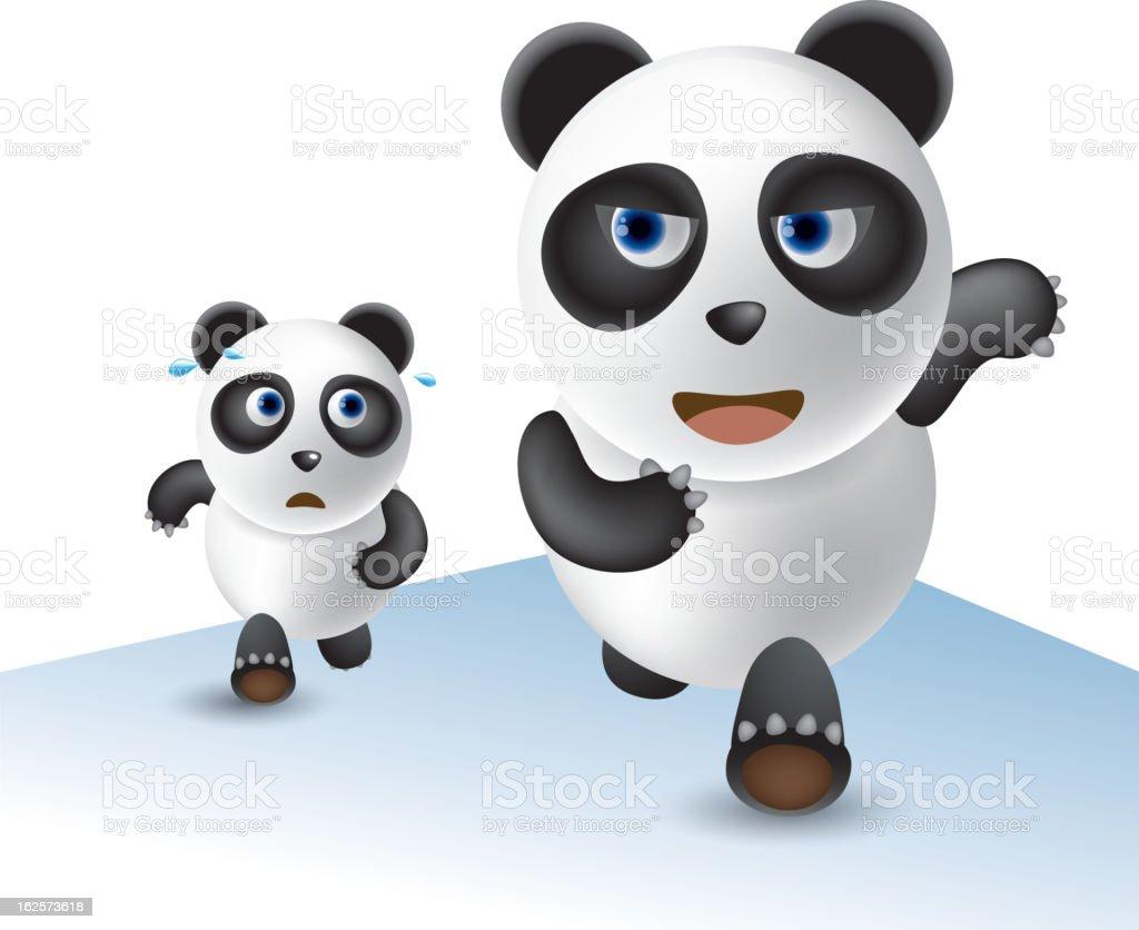 Race panda royalty-free stock vector art