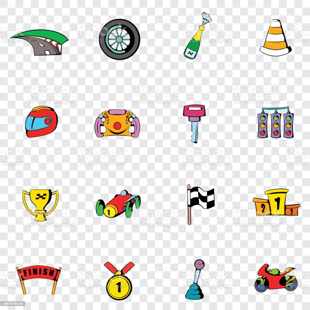 Race set icons royalty-free race set icons stock vector art & more images of car