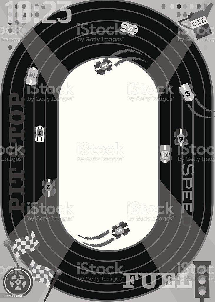 Race Track Mortice vector art illustration