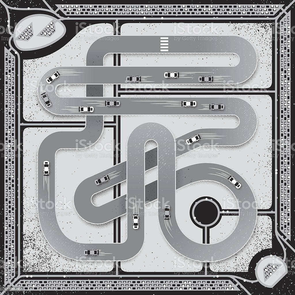 Race Track vector art illustration