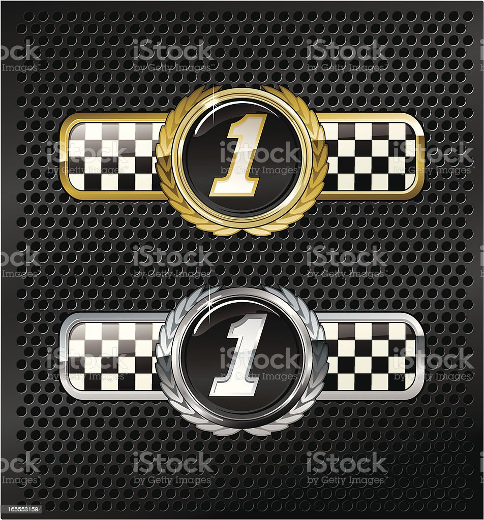 race winner plaque royalty-free stock vector art