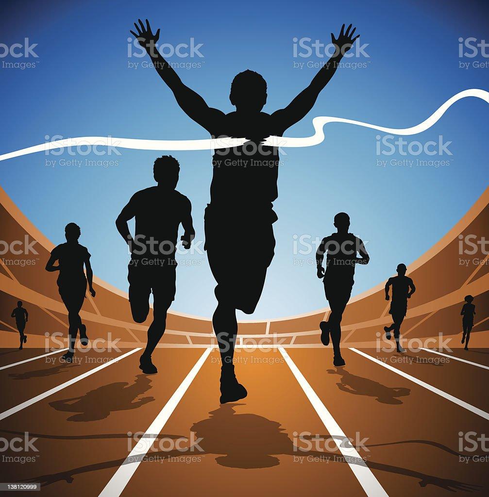 Race Winner - Royalty-free 100 Meter stock vector