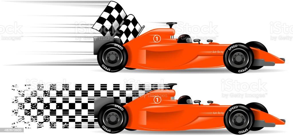 racecar vector art illustration