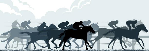 yarış atı - horse racing stock illustrations