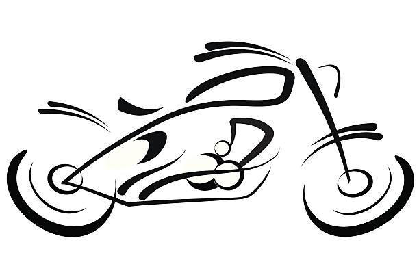 mortorbike со спиной-борцовкой - four seasons stock illustrations