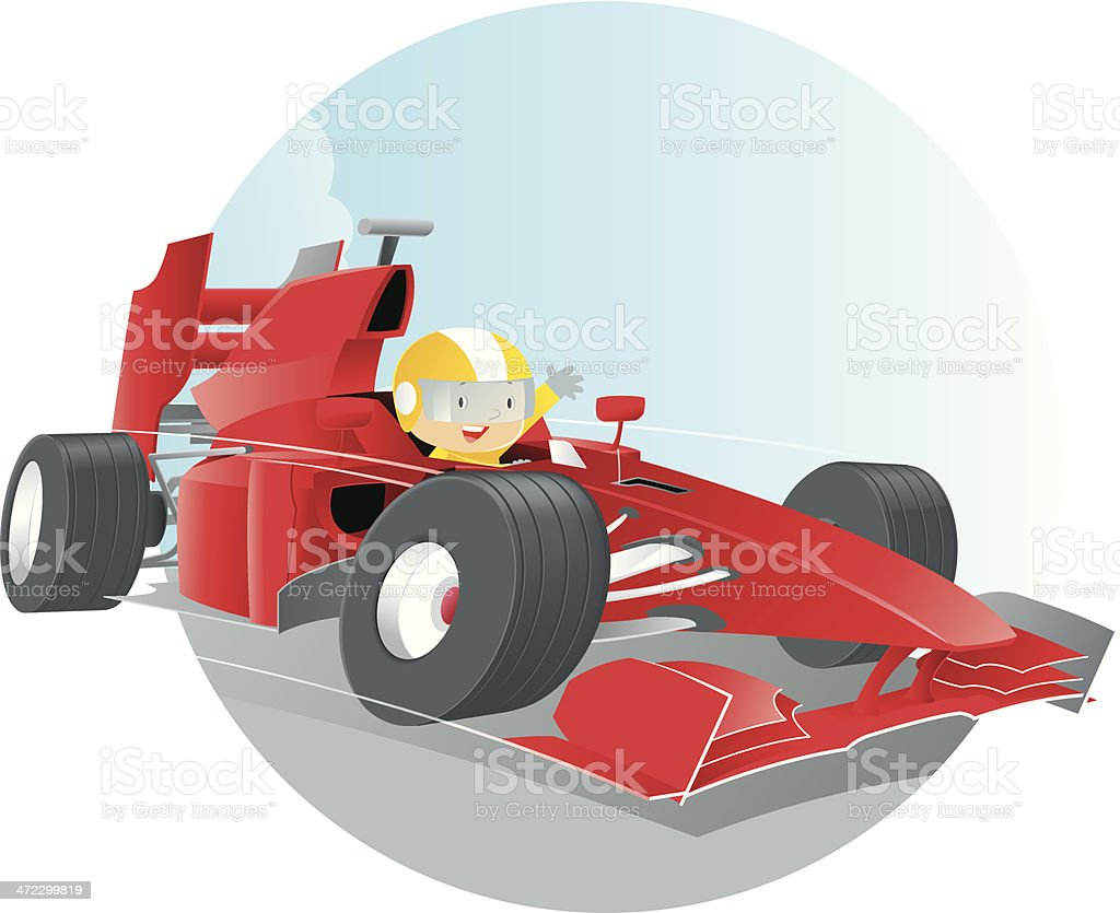 Racer royalty-free stock vector art