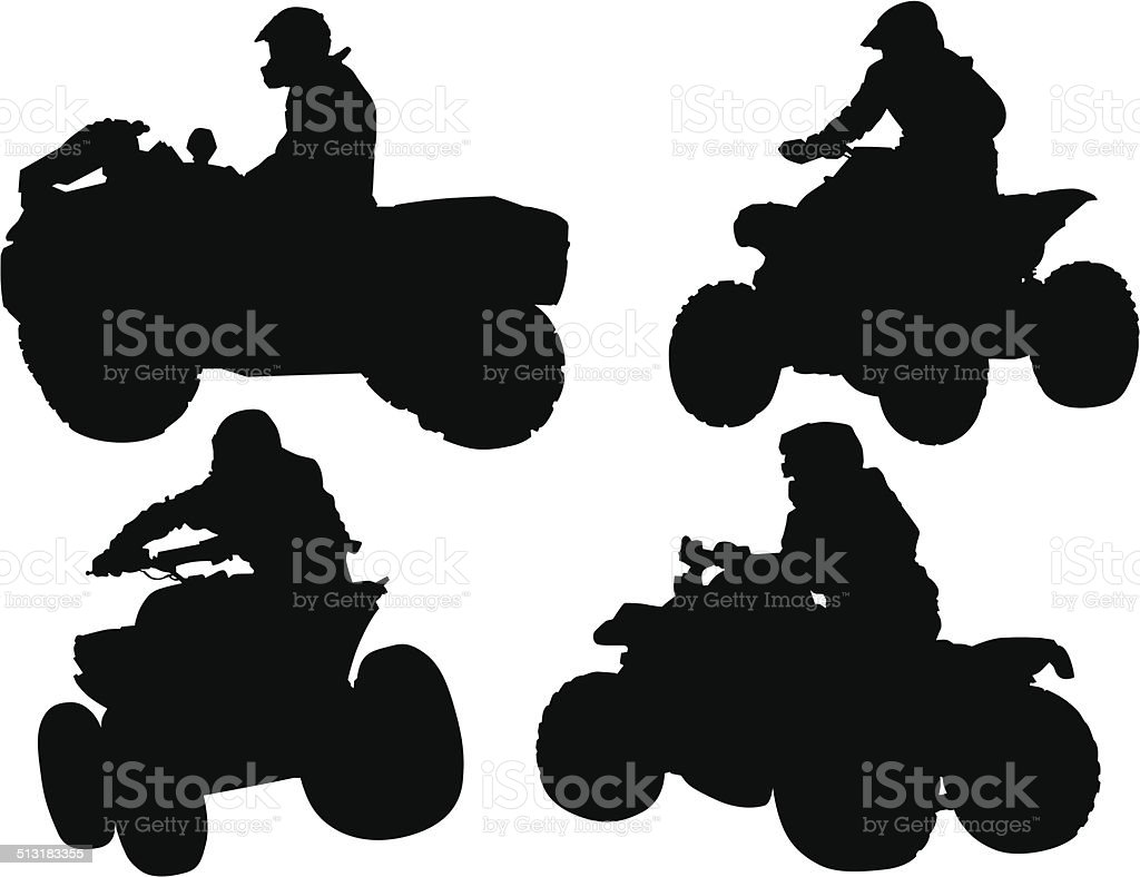 ATV races vector art illustration