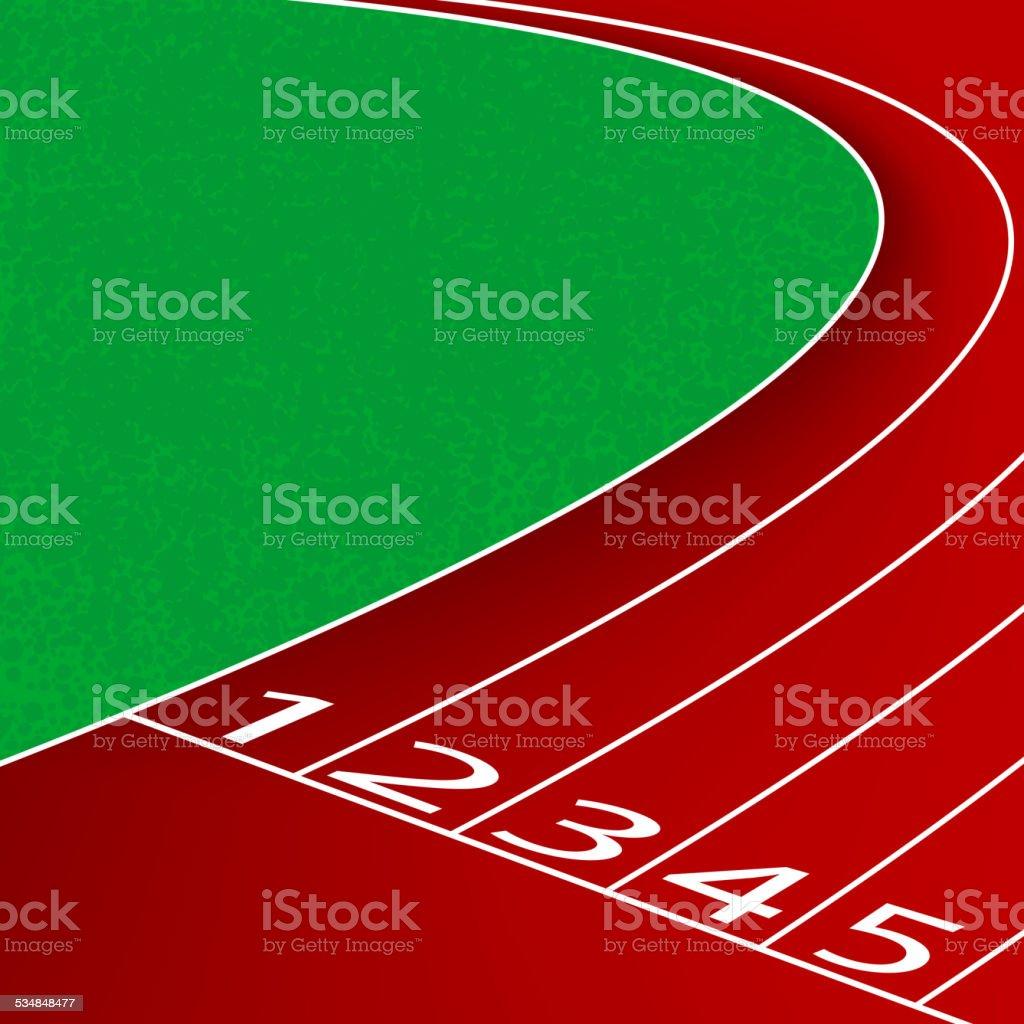 Racetrack scene vector art illustration