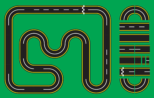 Best Race Track Illustrations, Royalty-Free Vector ...