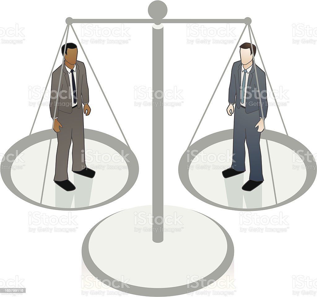 Gender Equality Scales Concept Vector Illustration
