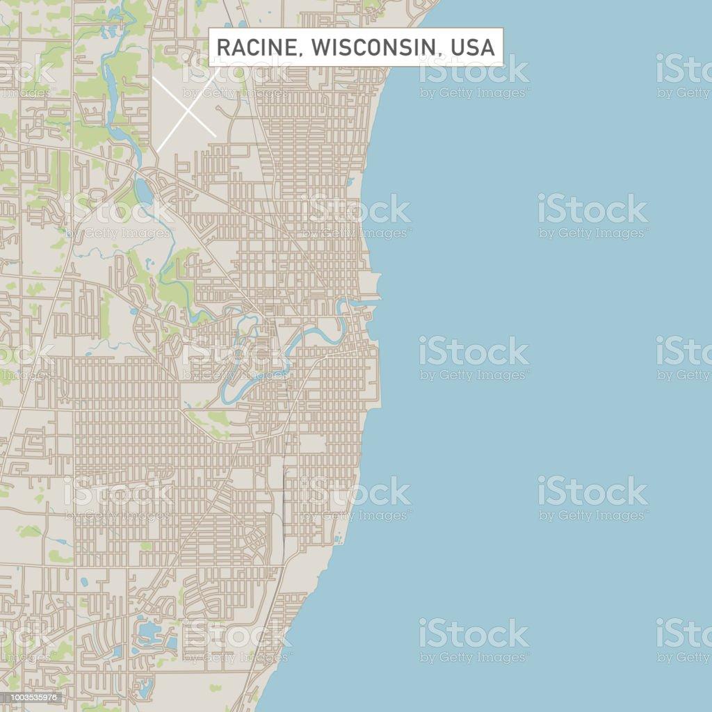 Racine Wisconsin Map.Racine Wisconsin Us City Street Map Stock Vector Art More Images