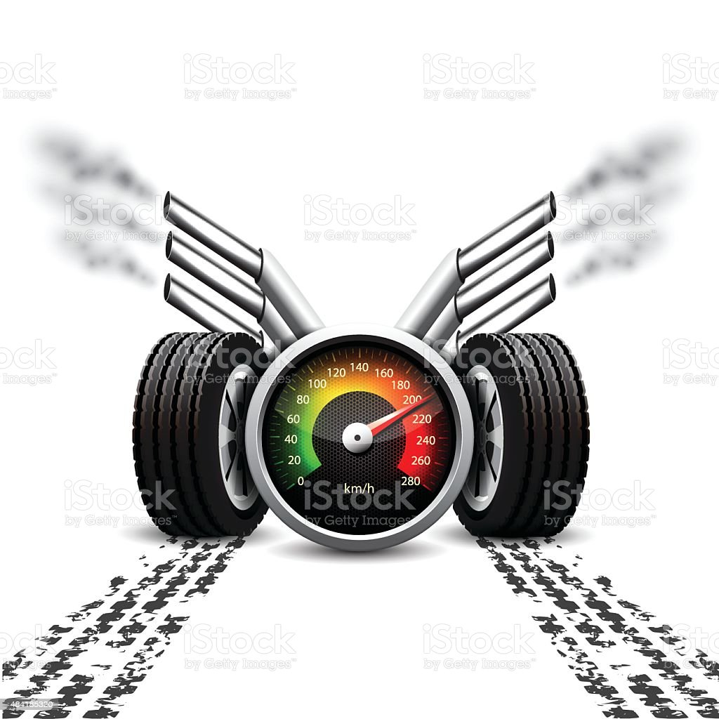 Racing background vector art illustration