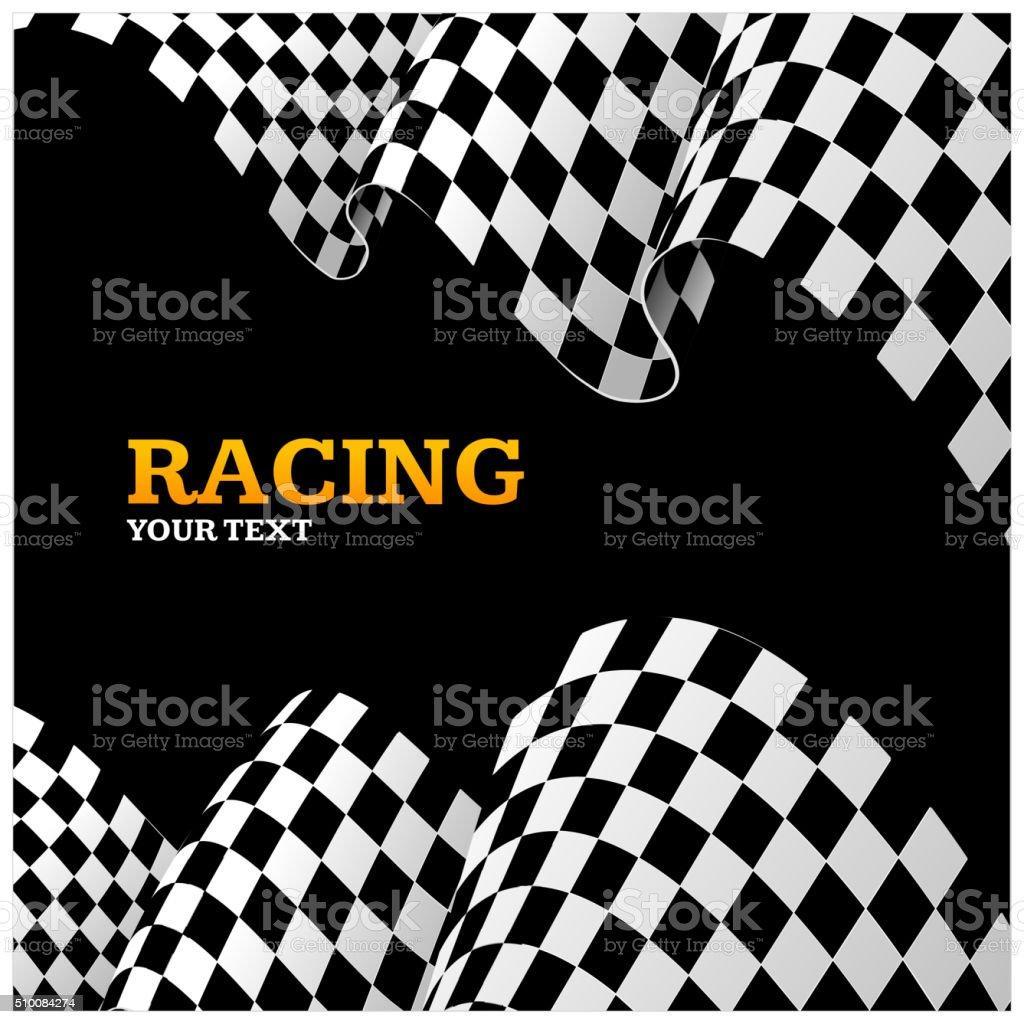 Racing Background. Vector vector art illustration