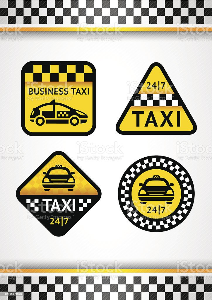 Racing Background vertical and Taxi vector art illustration