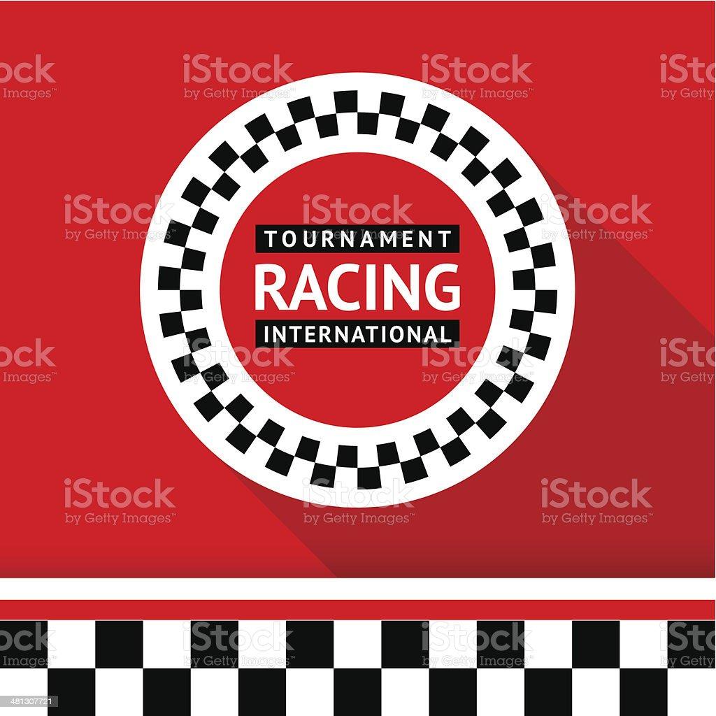 Racing badge 06 vector art illustration